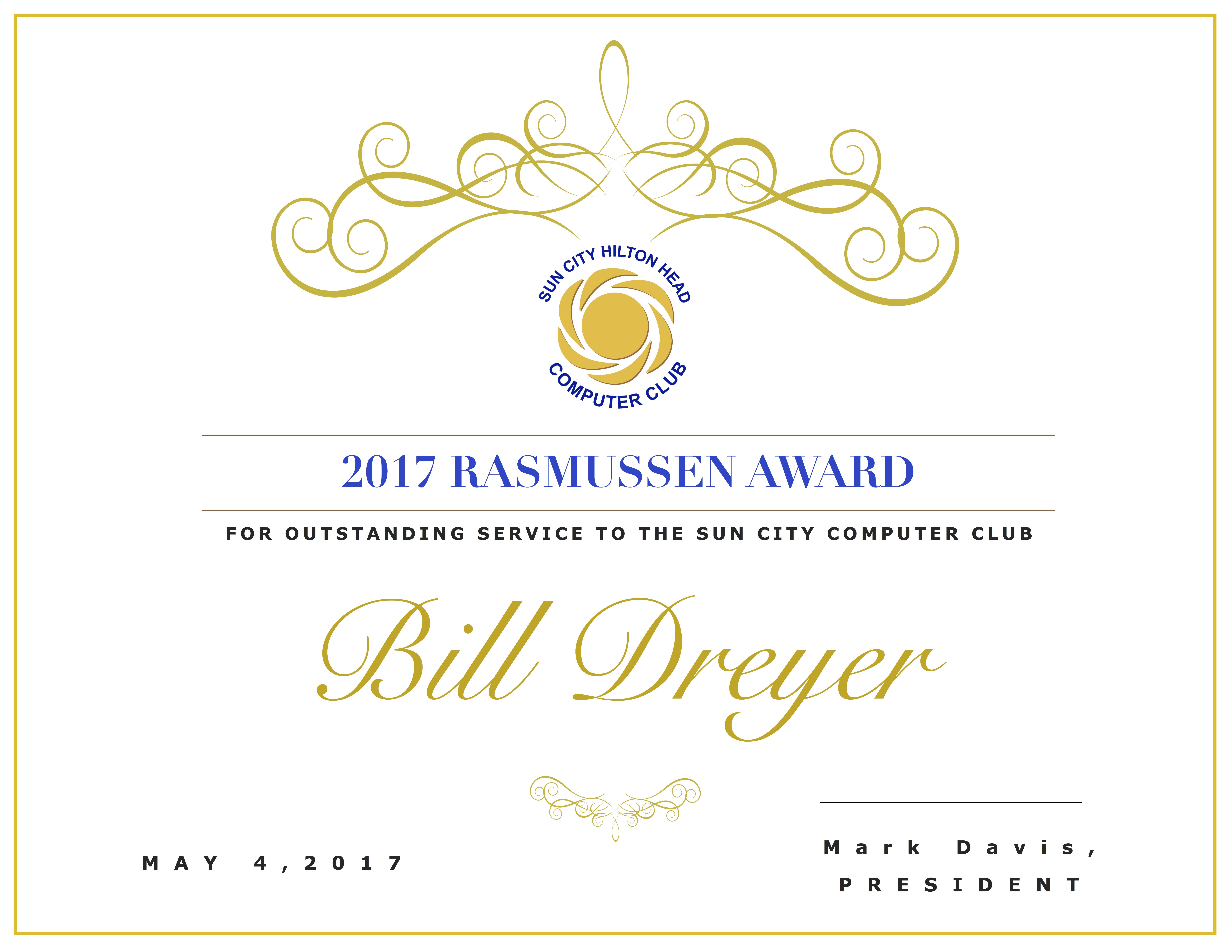 Rasmussen Certificate Bill