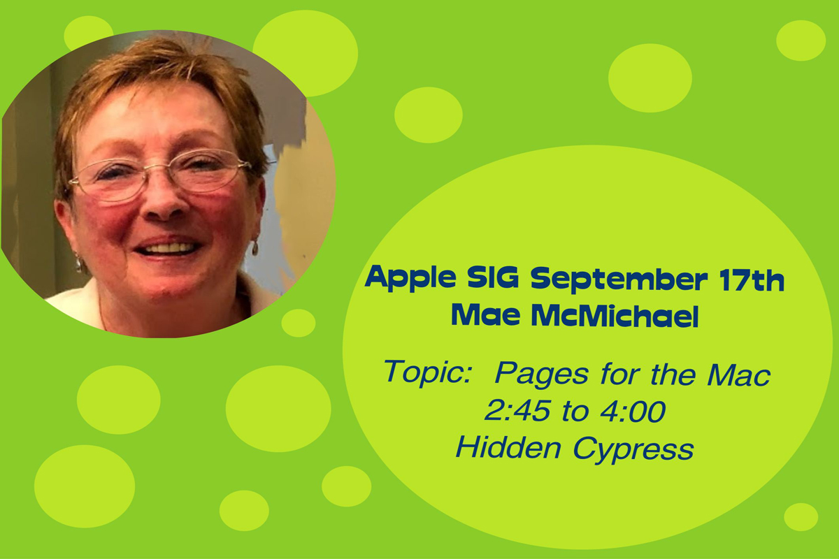Join us for a presentation on Pages, the free Apple word processing program