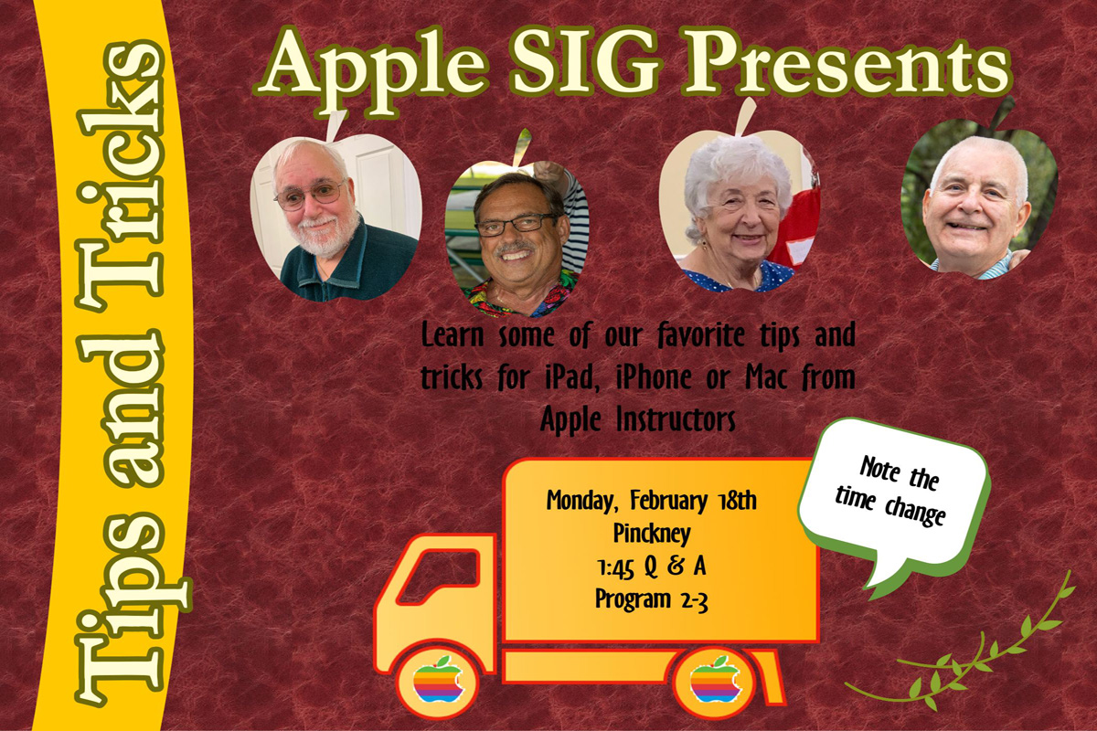 Join Bill McKinnery, Mark Davis, Noah Rosenstein and Catherine Tracy as they discuss some of their favorite thing to do with iPad, iPhone and Mac